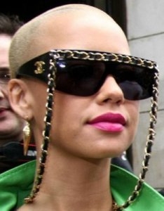 Amber Rose in Vintage Chanel Chain Glasses