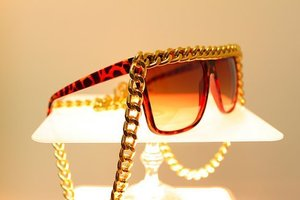 Ghetto Famous Tortoise CHAIN SUNGLASSES by It's Not Me Accessories, $30