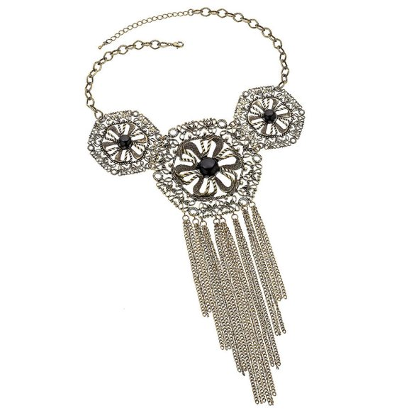 Flower Disc Necklace by Topshop