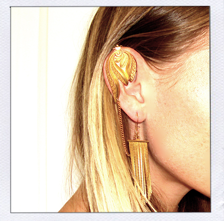 Litter Gold Tassel Ear Cuff, $110-AMAZING!!!!!!
