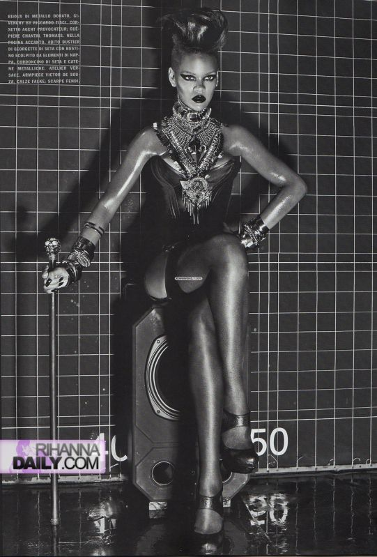Rihanna    Vogue Italia Extreme Couture by steven klein13