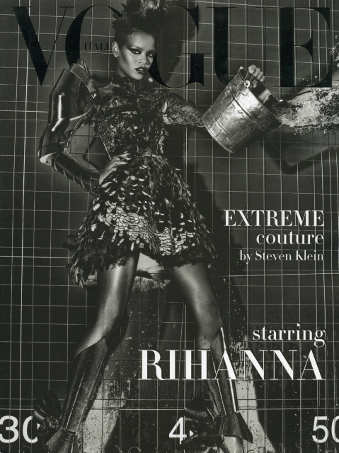 Rihanna    Vogue Italia Extreme Couture by steven kleinCOver