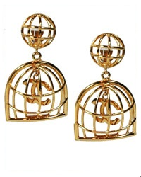 Vintage Chanel Bird Cage Clip-On Earrings