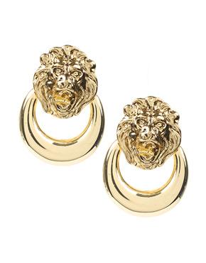 ASOS Lion Door Knocker Clip-On Earrings, $14.71