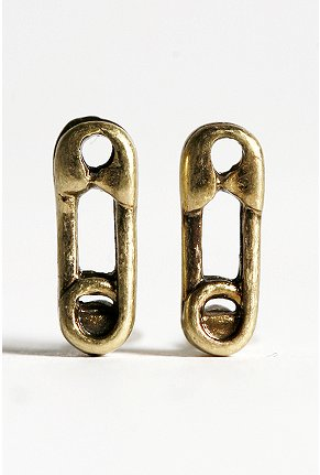 Urban Outfitters Safety Pin Studs, $12