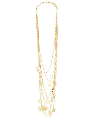 Forever21 Mixed Charm Multi Chain Necklace, $8.80