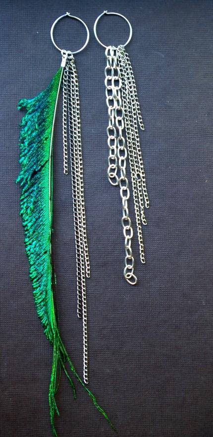 Peacock Sword Earrings by PeaceImages