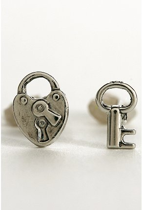Urban Outfitters Lock and Key Studs, $9.99